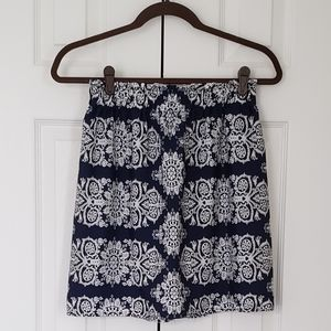 Francesca's patterned skirt